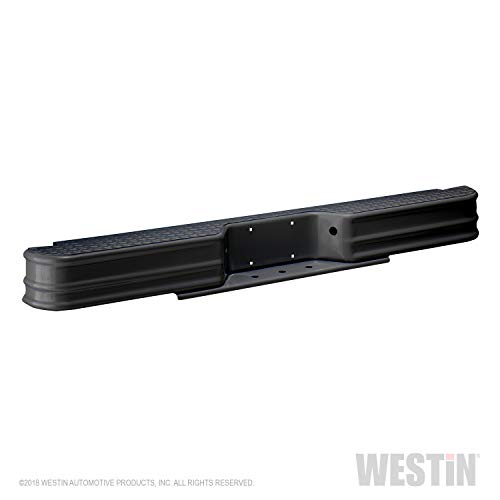 Bumper Rear Brackets Pickup - Fey 66000 DiamondStep Universal Black Replacement Rear Bumper (Requires Fey vehicle specific mounting kit sold separately)