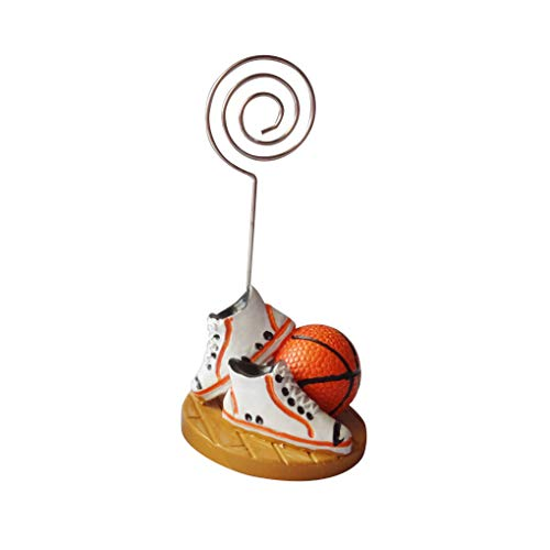 Tralntion Basketball Football Soccer Table Number Card Holder Photo Memo Clip Wedding Table Decor (Football Memo Holder)