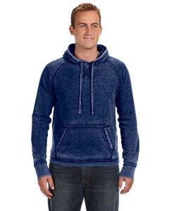 Vintage Distressed Pullover Hooded Sweatshirt - Vintage Navy