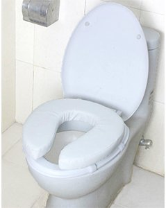 ObboMed MU-3402 New High Density Toilet Seat Raiser Elevated Raised Cushion, Cushioned and Padded Cover for Elderly, Senior, Handicap and Disabled - White, 2 Inches