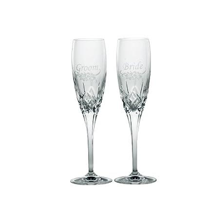 Amazon Com Galway Irish Crystal Engraved Bride Groom Floral