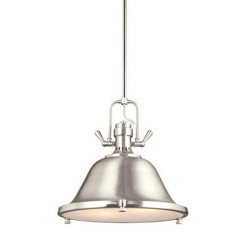 (251 First Afton Brushed Nickel Two-Light LED Energy Star Pendant)