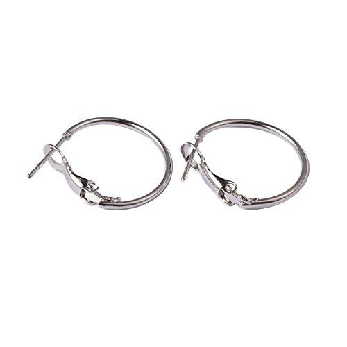 Pandahall 10pcs Platinum Hoop Earrings Open Wine Glass Charm Ring Nickel Free 20mm
