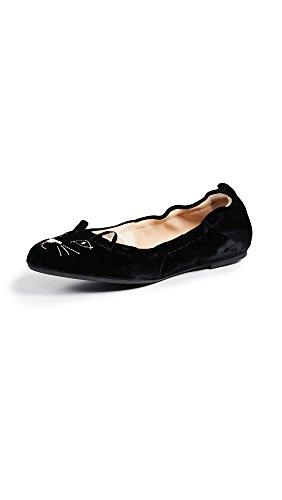 charlotte olympia Women's Kitty Flats, Black, 39 M IT