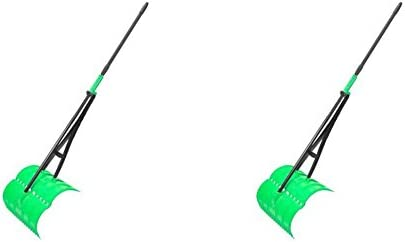 2x  Plastic Shovel Cleaning Snow Leaf Helping Lightweight Strong Durable Robust