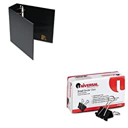 KITAVE79983UNV10200 - Value Kit - Avery Heavy-Duty Binder with One Touch EZD Rings (AVE79983) and Universal Small Binder Clips (UNV10200)