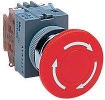 600VAC IDEC AVW401-R SWITCH SPST-NC EMERGENCY STOP