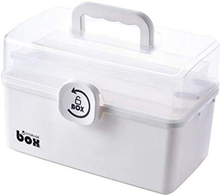 家庭用救急箱 薬箱 薬ケース お薬 箱 収納ケース 応急ボックス 収納ボックス 薬収納 3段式 防災 薬入れ 取っ手付き 持ち運びしやすい 小物入れ 29*16*15.7cm 34*19*21.5cm ホワイト ブルー