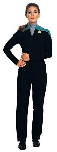 Deluxe Lt. Dax Star Trek Uniform Costume Jumpsuit (Teal) - Womens Medium Black
