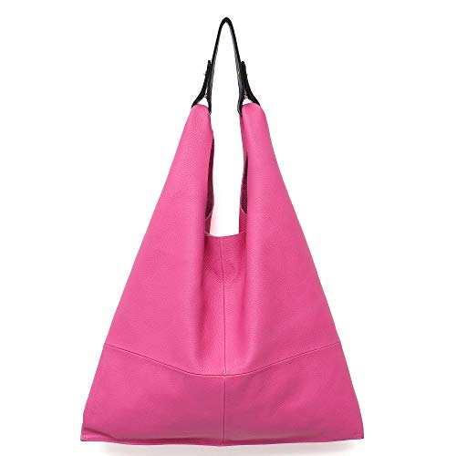Women's Handbag STEPHIECATHY Genuine Leather Slouch Hobo Shoulder Bag Large Casual Handmade Tote Vintage Snap Shopping Bags