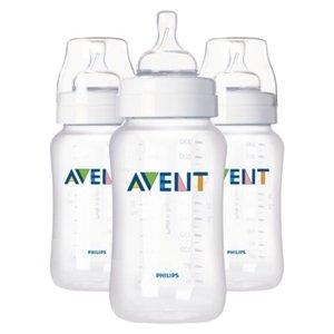 Avent Polypropylene BPA Free 11oz Baby Bottle Pack of 3