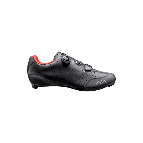 FIZIK Rennschuh R3B Uomo Obermaterial: Microtex Laser Perforated, Laufsohle: UD Carbon Fiber, Innensohle: fi'zi:k Cycling Insole, Verschluss: Boa IP1 System, Gewicht: 230g, black/red, Gr. 43