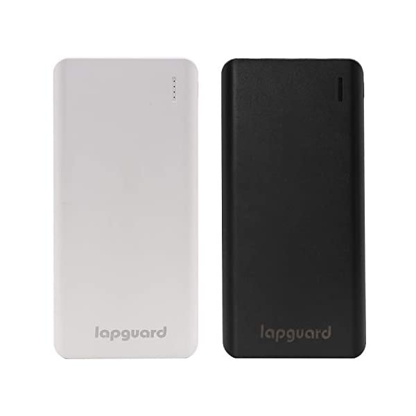 Lapguard 10000 mAh Lithium Polymer Power Bank LG514 (Black) 2021 August 10000mAh Li-Polymer Battery: Lapguard Power Bank comes with high-density advanced Li-polymer batteries that makes it more durable and optimizes charging efficiency. It can charge 3000 mAh - 2 times, 4000 mAh - 1.5 times 10W Fast Charging: The new Lapguard Power Bank comes with 10W Fast Charging. It supports 5V/2.1A MAX charging outputs that ensures efficient and quick charging for your devices Classic Dual Port: Dual input ports (Micro-USB/USB-C) and Dual USB Output with smart charging - Lapguard Power Bank intelligently adjusts power output up to 10W to deliver fast and efficient charging for each connected device