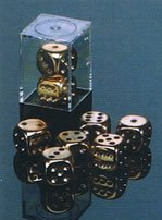 (Copper Plated 16mm 6 Sided Dice 2 ea in Box by Chessex Dice)