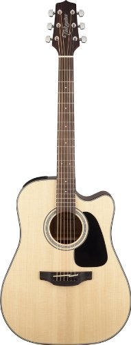 Takamine GD30CE-NAT Dreadnought Cutaway Acoustic-Electric Guitar, Natural by Takamine