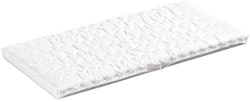 Träumeland T030302 Wiegenmatratze Wash Softschaumkern für guten Liegekomfort mit Baumwollbezug, 45 x 90 cm
