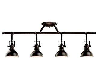 Kichler 7704OZ Rail Light 4-Light Halogen, Olde Bronze - smallkitchenideas.us