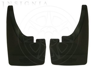GM # 12499846 Splash Guards - Rear Molded Set - Black Grained with Chevy Bowtie Logo