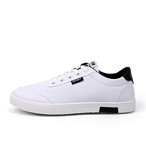 Bianco EU da da Basse Lace Sneaker Up 38 populalar 44 Scarpe Uomo qwvvZg