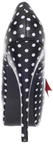 Mujer De Uk Talla 7 Pinup Zapatos Tacón Couture Color Negro 40 ZqxpICw
