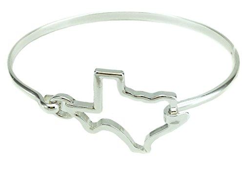 - O3 State Shape Bangle Bracelet (Texas-Silver)