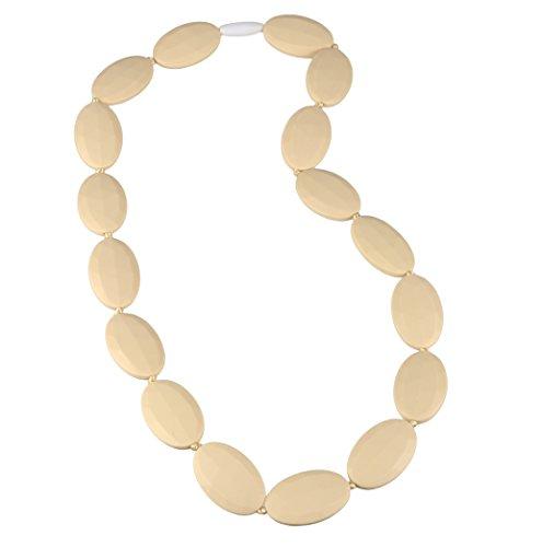 Silicone colliers de dentition avec Bijoux Baby-Safe En FAVEfemme - sans BPA, meilleure méthode Apaisant, Better Than Ambre de la Baltique, Collier de dentition pour maman (Vanilla Creme / Beige)