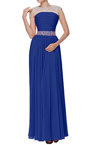 Royal Wedding Dress Avril Glamorous Straps Blue Tulle Chiffon Guest Empire Long Gown ZBvnOvH