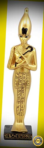 KARPP Egyptian Ushabti Funerary Figurine Shawabti Pharaoh with Hieroglyphs Statue Perfect Indoor Collectible Figurines