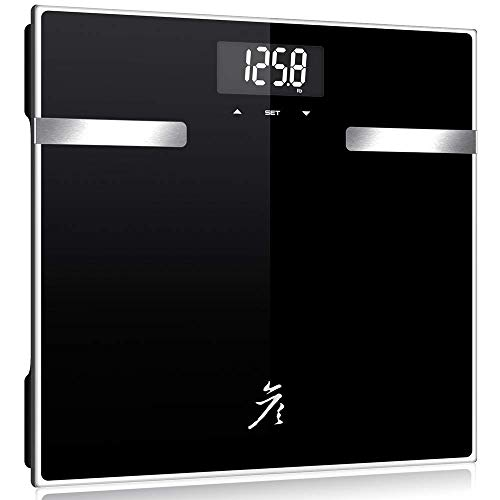 danniboom High Accuracy Bathroom Body Weight Scale with Backlight Display- Digital Body Fat Scale, 400 lbs ()