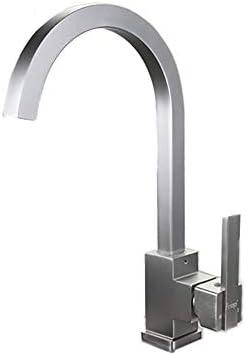 温冷水キッチンシンクの蛇口スペースアルミニウム水ミキサータップ360度回転