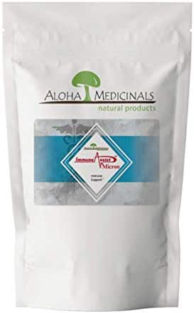 Aloha Medicinals – Immune Assist Micron - Super Extract – Cordyceps,Reishi,Agaricus Blazei,Maitake,Shiitake,Turkey Tail - Mushroom Supplement – Immune Support – Certified Organic – 1 Kilo Bag (Powder)