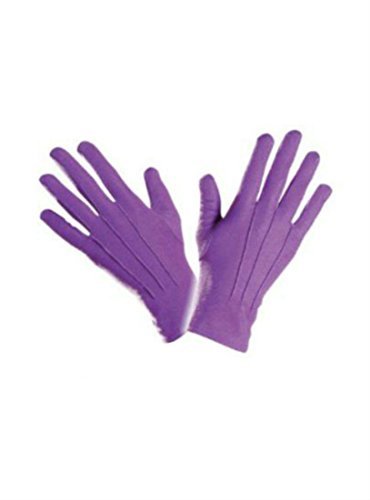 Gothic Adult Joker Magician PURPLE Seamed GLOVES Clown Halloween Fancy Dress Creepy Style (Fancy Dress Magician)