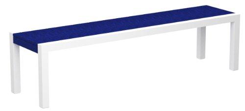 POLYWOOD 3800-10PB MOD Bench, Gloss White/Pacific Blue price
