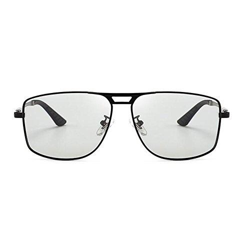 Protección Conducción 2 Hombres De WYYY Polarizada Color Gafas Luz Solar Black 100 1 UVA Cuadrada Gafas De Libre Black Aire Gafas Decoloración Clásico UV Sol Protección Caja Anti Inteligente YfxT50f