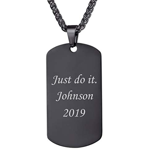 U7 Personalized Dog Tags Pendant with 22