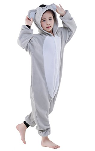 Olasante Unisex Child Kid Grey Koala Cosplay Costume Pajamas Masquerade Costume Jumpsuit Outfit,8-115