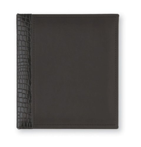 CR Gibson Refillable Address Book, Heritage Fashion Onyx,, Office Central