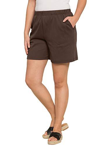 - Roamans Women's Plus Size Soft Knit Shorts - Chocolate, M