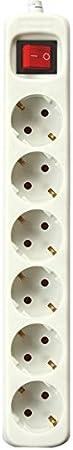 Blanco Silver Electronics 9623 Regleta con 3 salidas sin interruptor 1,5 metros 3 Enchufes