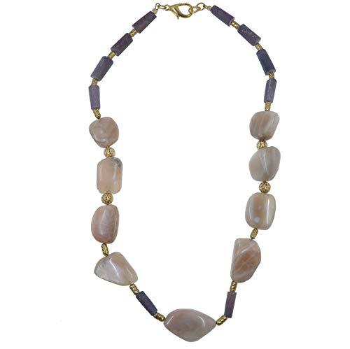 (SatinCrystals Moonstone Necklace 21