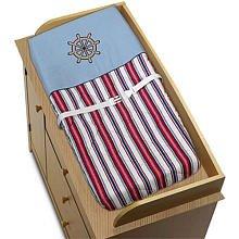 Sweet Jojo Designs Nautical Nights Sailboat Boys Changing Pad Cover