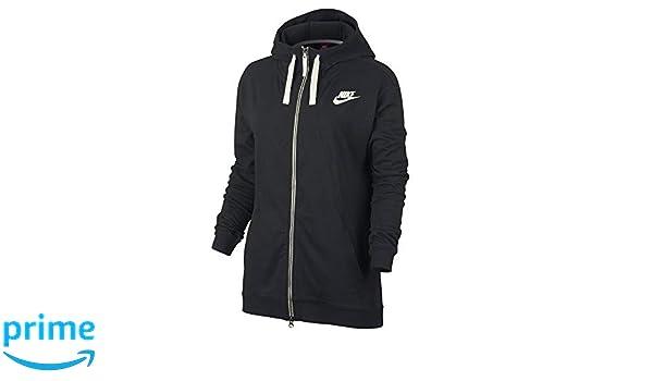 cf99faa2b1 Amazon.com  Nike Womens Gym Classic Full Zip Hoodie Black Heather Sail  854961-032 Size Medium  Sports   Outdoors