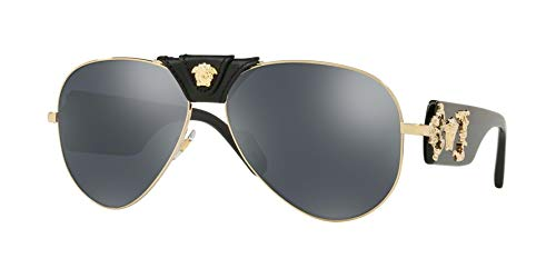 Versace Men's VE2150Q Pale Gold/Grey Mirror/Black One ()