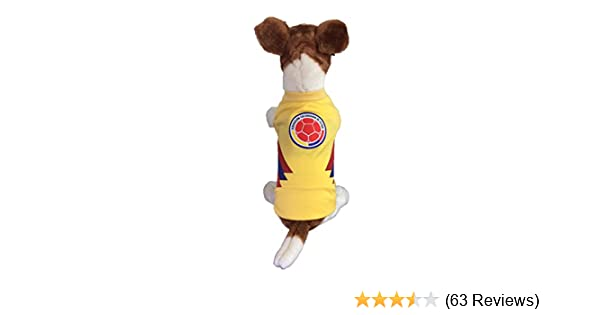 Amazon.com : My Pet Boutique Dog Soccer Jersey Colombia (Large)-The Russia World Cup 2018- T-Shirt : Pet Supplies