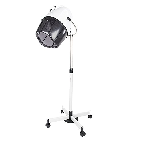 Mefeir Professional 1000W Upgraded Hair Dryer Stand Up with Swivel Hood, Adjustable Timer Temperature,Rolling with Reinforced Iron Plate, Hair Dryer Equipment for Barber Salon Home Use by Mefeir