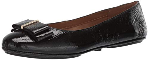 Aerosoles Women's Conversation Ballet Flat Black Patent 8.5 M US