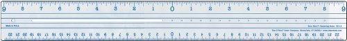 (C-Thru Plastic Zero Centering 18-Inch Ruler by C-THRU)
