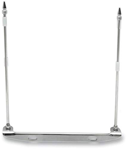 Rivco Products FH100 License Plate Mounted Double Flag Holder
