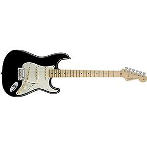 Fender 0113002706 American Standard Stratocaster Maple Fingerboard Electric Guitar – Black