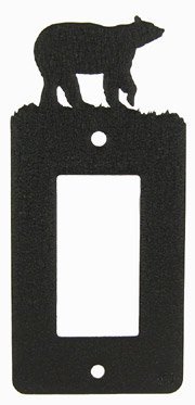 Bear GFI Rocker Light Switch Plate Cover - Bear Single Switchplate